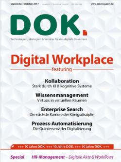 """Cover des DOK.-Magazin mit dem Thema """"Digital Workspace"""""""