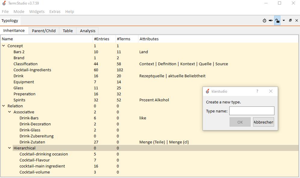 Screenshot of term:studio showing hop wo dreate a new type relation.